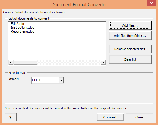Document Format Convertor screenshot