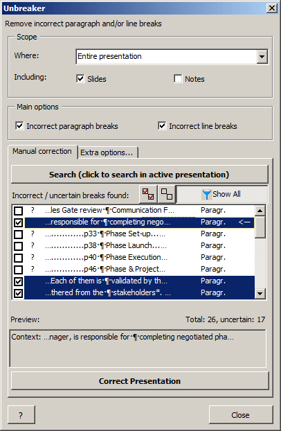 Unbreaker for PowerPoint screenshot
