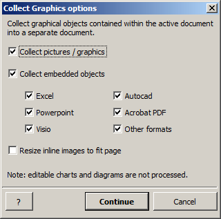Collect All Graphics From Active Document window