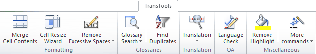 TransTools for Excel add-in